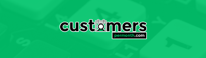 Customers Per Month Logo